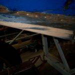 Holz vor dem Kiel ersetzt